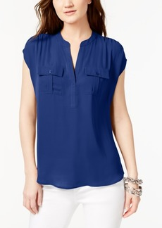 INC International Concepts I.n.c. Split Neck Utility Shirt, Created for Macy's