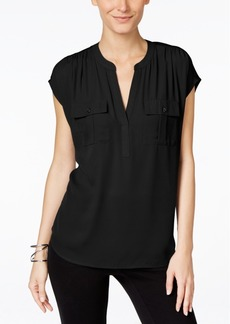Inc International Concepts Mixed-Media Utility Shirt, Created for Macy's