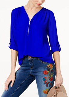 INC International Concepts I.n.c. Mixed-Media Utility Top, Created for Macy's