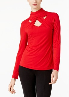 I.n.c. Mock-Neck Cutout Top, Created for Macy's