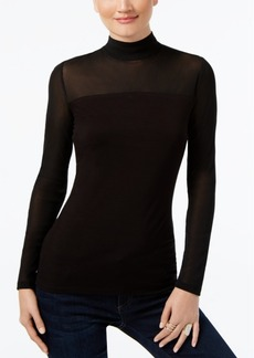 INC International Concepts I.n.c. Mock-Turtleneck Illusion Top, Created for Macy's
