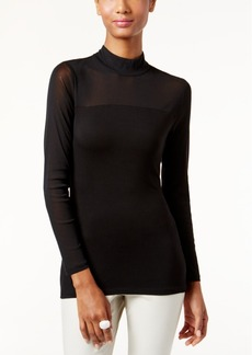 Inc International Concepts Mock-Turtleneck Illusion Top, Only at Macy's