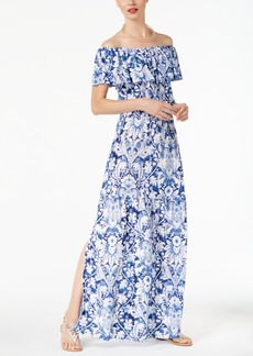 Inc International Concepts Off-The-Shoulder Maxi Dress, Created for Macy's