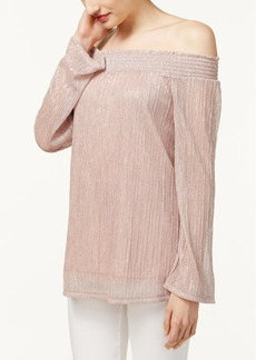 Inc International Concepts Off-The-Shoulder Metallic Top, Only at Macy's