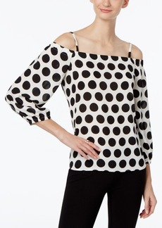 Inc International Concepts Off-The-Shoulder Polka-Dot Top, Only at Macy's