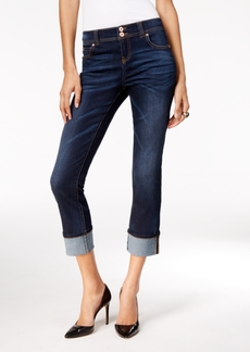 Inc International Concepts Curvy Onyx Wash Cropped Jeans, Only at Macy's