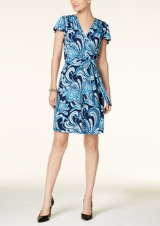 Inc International Concepts Paisley-Print Wrap Dress, Created for Macy's