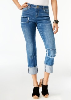 Inc International Concepts Patchwork Boyfriend Jeans, Created for Macy's