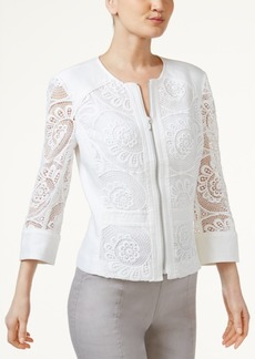Inc International Concepts Petite Crochet Jacket, Only at Macy's