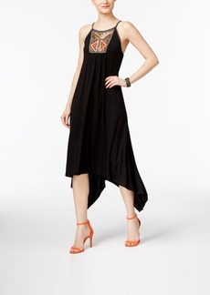 Inc International Concepts Petite Embellished Handkerchief-Hem Dress, Created for Macy's