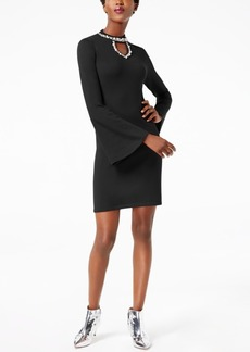 Inc International Concepts Petite Embellished Keyhole Dress, Created for Macy's