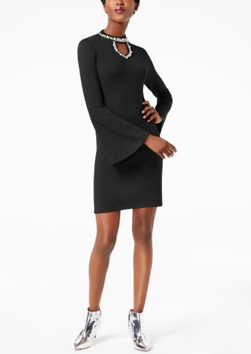 INC International Concepts I.n.c. Petite Embellished Keyhole Dress, Created for Macy's
