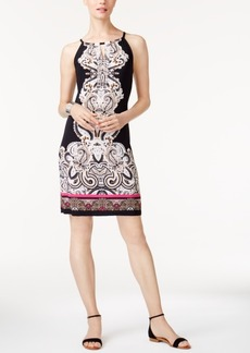 Inc International Concepts Petite Embellished Printed Sheath Dress, Created for Macy's