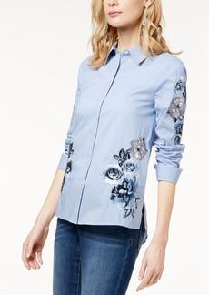 I.n.c. Embroidered Shirt, Created for Macy's