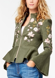 I.n.c. Embroidered Peplum Jacket, Created for Macy's