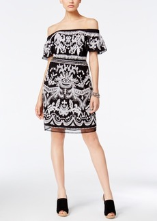 Inc International Concepts Embroidered Cold-Shoulder Dress, Only at Macy's