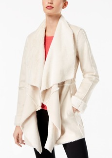 Inc International Concepts Petite Faux-Suede Draped Jacket, Created for Macy's