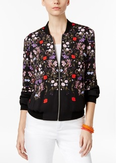 Inc International Concepts Petite Floral-Print Bomber Jacket, Only at Macy's