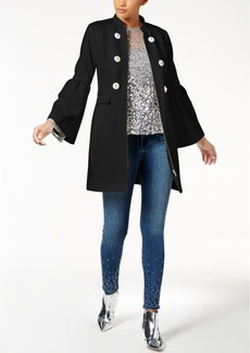 Inc International Concepts Petite Gem-Button Bell-Sleeve Jacket, Created for Macy's
