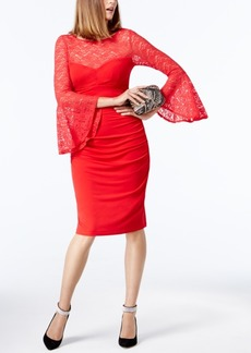 INC International Concepts I.n.c. Petite Lace Bell-Sleeve Sheath Dress, Created for Macy's