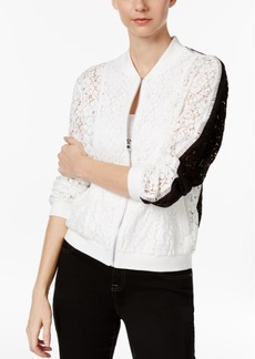 Inc International Concepts Colorblocked Lace Bomber Jacket, Only at Macy's