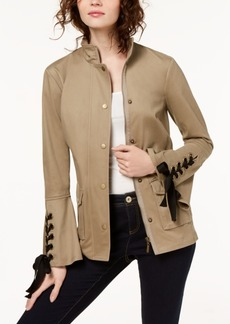 Inc International Concepts Petite Lace-Up Utility Jacket, Created for Macy's