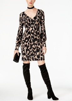 Inc International Concepts Petite Leopard-Print V-Neck Sheath Dress, Created for Macy's