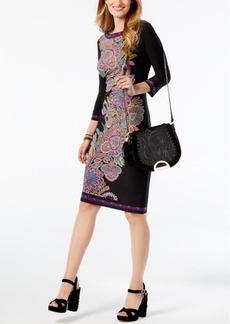 Inc International Concepts Petite Paisley-Print Sheath Dress, Created for Macy's