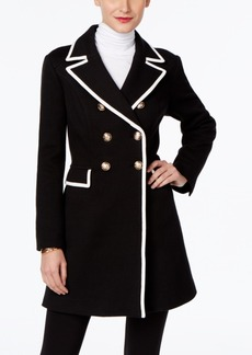 Inc International Concepts Piped Double-Breasted Coat, Only at Macy's