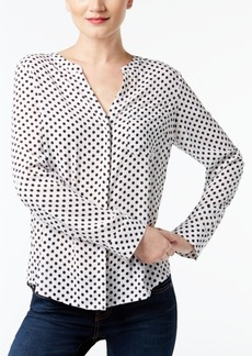 Inc International Concepts Split-Neck Blouse, Created for Macy's