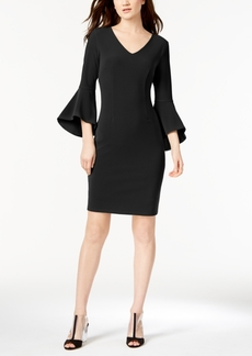 I.n.c. Petite Bell-Sleeve Knit Dress, Created for Macy's