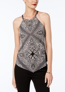 I.n.c. Petite Printed Halter Top, Created for Macy's