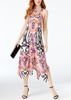 Inc International Concepts Printed Handkerchief-Hem Midi Dress, Created for Macy's