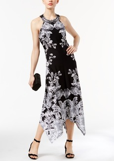 Inc International Concepts Petite Printed Handkerchief-Hem Dress, Created for Macy's