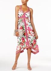 Inc International Concepts Paisley-Print Handkerchief-Hem Dress, Only at Macy's
