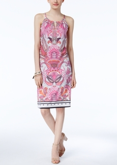 Inc International Concepts Petite Printed Sheath Dress, Created for Macy's