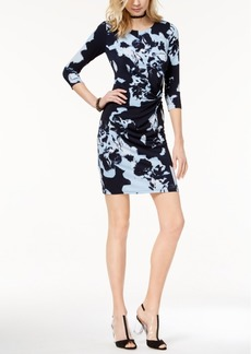 I.n.c. Petite Printed Twist-Front Sheath Dress, Created for Macy's