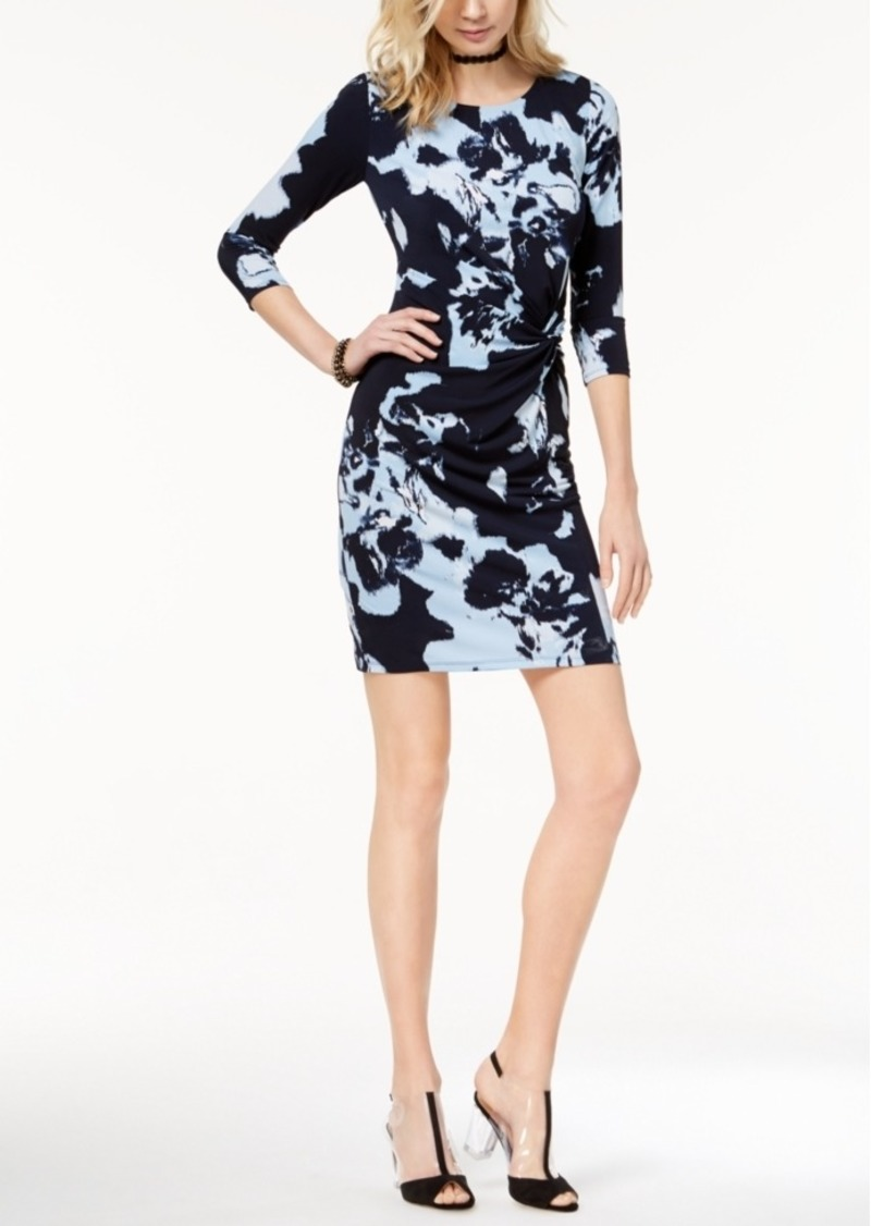 INC International Concepts I.n.c. Petite Printed Twist-Front Sheath Dress, Created for Macy's