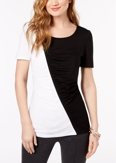 I.n.c. Ruched Colorblocked Top, Created for Macy's
