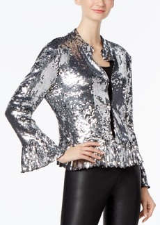 Inc International Concepts Petite Sequined Jacket, Only at Macy's