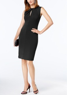 Inc International Concepts Petite Sheer Illusion Twist-Neck Sheath, Created for Macy's