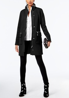 Inc International Concepts Petite Stand-Collar Knit Coat, Created for Macy's