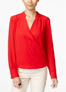 Inc International Concepts Surplice Blouse, Only at Macy's