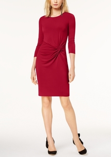 Inc International Concepts Petite Twist-Front Dress, Created for Macy's