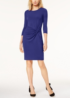 I.n.c. Petite Twist-Front Dress, Created for Macy's