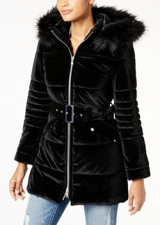 I.n.c. Petite Velvet Puffer Jacket, Created for Macy's