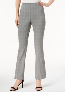 INC International Concepts I.n.c. Plaid Flare-Leg Pants, Created for Macy's