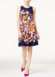 Inc International Concepts Pleated Fit & Flare Dress, Only at Macy's