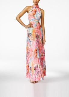 Inc International Concepts Pleated Floral-Print Maxi Dress, Only at Macy's