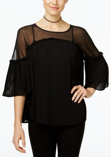 Inc International Concepts Pleated Illusion Peasant Top, Only at Macy's